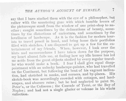 An excerpt from The Sketch-Book of Geoffrey Crayon, Gentleman