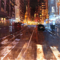 Small square crop of Hot New York Night, Jeremy Mann, Painting