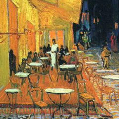 Small square crop of Café Terrace on the Place du Forum, Arles, at Night, Vincent van Gogh, Painting