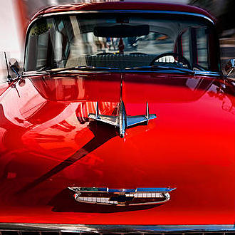 Small square crop of The Red Chevy, Riccardo Mantero, Photograph