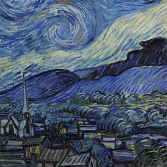 Small square crop of The Starry Night, Vincent van Gogh, Painting