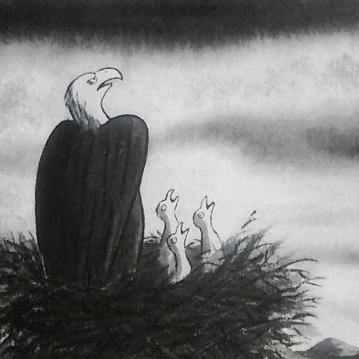 "Photograph of Charles Addams' ""All Your Father Can Think Of"""
