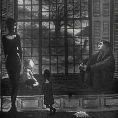 "Photograph of Charles Addams' ""Just the kind of day that makes you feel good to be alive!"""