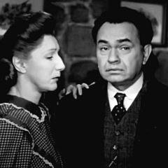 Cropped capture from The Red House (Delmer Daves, 1947), Edward G. Robinson and Judith Anderson (Ellen Morgan)